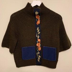 Anthropologie Field Flower Wool & Acrylic Sweater